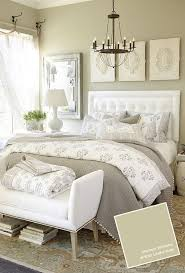 piece emmaline upholstered panel bedroom: neutral bedroom with useful gray wall color from benjamin moore