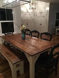 designs sedona table top base: simple man farmhouse table simple man bb top white oak white base