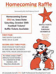 homecoming raffle flyer spears business news homecoming raffle 1 each or 6 for 5 for tickets contact a staff advisory