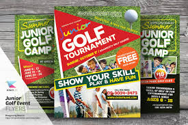 summer camp psd flyer photos graphics fonts themes templates junior golf event flyer templates