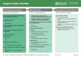 how to use simple checklists to boost efficiency and reduce mistakes surgical safety checklist