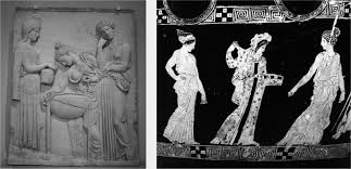 la tradizione classica nella memoria occidentale n  4 medea as sorceress and two pelias daughters beside the cauldron neoattic marble relief i sec ad perhaps from a attic original of the late v century