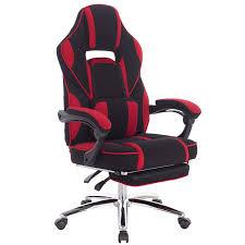 <b>Racing</b> Chair Swivel Computer <b>Desk</b> Chair Fabric Seat with 170°Tilt ...