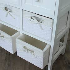 white storage unit wicker:  white storage unit  baskets  drawers