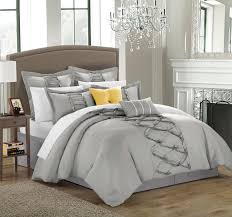 silver white bedroom full size bedroom enchanting white ruffle comforter for decoration grey and with