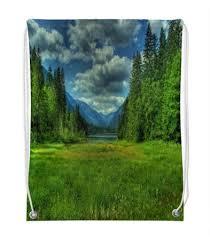 Рюкзак-Мешок с Полной Запечаткой <b>Printio Лесной</b> Пейзаж ...
