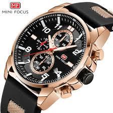 <b>MINI FOCUS Mens</b> Casual Watch <b>Luminous</b> Stopwatch Analog ...