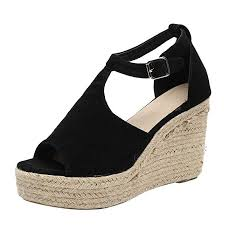 2019 Womens Wedges Sandals,Casual Flock Super ... - Amazon.com