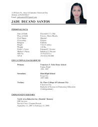 sample of curriculum vitae in the sample service resume sample of curriculum vitae in the curriculum vitae cv examples resume writing resume filipino college