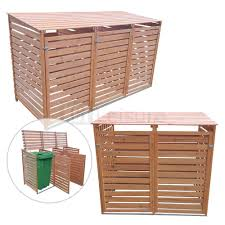 Outdoor Rattan Double Single Wheelie Bin Shed <b>Garden Storage</b> ...
