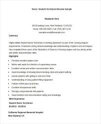 student nurse technician resume sample nursing student resume samples
