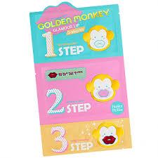 Buy <b>Golden Monkey Glamour</b> Lip 3-Step Kit Online - <b>Holika Holika</b>
