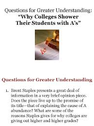 questions on why colleges shower their students a s