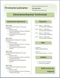 ideas about resume templates   resume professional    resume electro technician resume sample for     in ms word   employment experience and resume