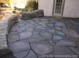 loose stone patio flagstone patio in chester springs  artistic hardscaping
