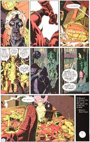 watchmen the drunken odyssey now the final action scene of the issue the death of hollis mason the original night owl is a bit different no main character is present