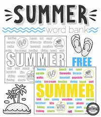 <b>Summer</b> Word Bank Collage - <b>Black and White</b> and Color - Your ...