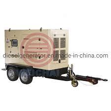 <b>China 100kw</b> 125kVA Trailer Generator <b>Soundproof</b> Genset Vehicle ...