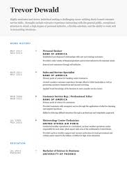 personal banker resume samples work history   singlepageresume compersonal banker resume samples work history