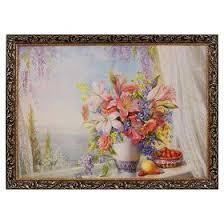 """Картина """"<b>Летний</b> букет на окне"""" <b>рама</b> микс (1431453) - Купить по ..."""