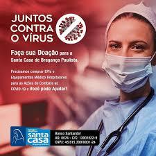 Campanha solidária Coronavírus: ajude a Santa Casa de Bragança
