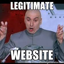 Legitimate Website - dr. evil quote | Meme Generator via Relatably.com