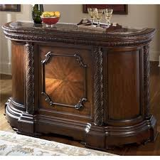 furniture t north shore: millennium north shore traditional demilune bar with marble top