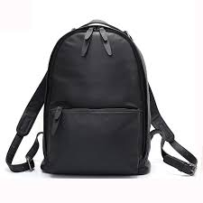 <b>Zency</b> Black <b>Women</b> Backpack 100% <b>Genuine Leather</b> Male Female ...