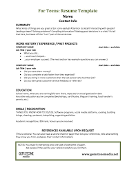teenage resume template getessay biz teenage resume template