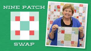 Make a 9 <b>Patch</b> Swap Quilt with Jenny Doan of Missouri <b>Star</b>! (Video ...