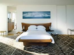 wooden bedside table reading lamps amazing minimalist master bed and headboard with wooden material also