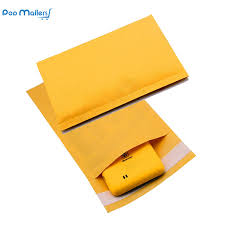 <b>10pcs 15x23cm Kraft</b> Bubble Mailers #00 Padded Mailers 5x9 Inch ...