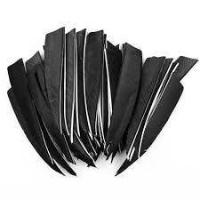 <b>50 pcs</b> 4″ inch <b>Shield</b> Turkey Feathers Arrow Feather Fletching For ...