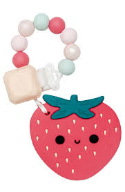 <b>Strawberry</b> Silicone Teether Set – Loulou LOLLIPOP
