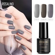 ROSALIND 7ML gray series Gel Nail Pure Soak-Off Long Lasting ...