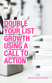 how to grow your email list jamie delaine watson double your list growth rate a call to action on your social media profiles