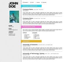 professional html resume templates   web  amp  graphic design    awesome online resume cv