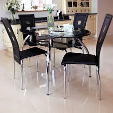 The Range Dining Room Furniture Black Glass Dining Table Glass Dining Table And Leather Chairs On