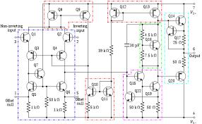 operational amplifier internal circuitry of 741 type op amp edit