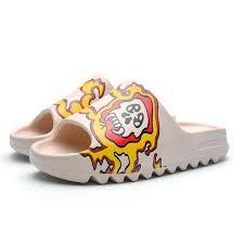 Fashion Men's Ins <b>Sandals Casual</b> Beach <b>Slippers Couple</b> -Yellow ...