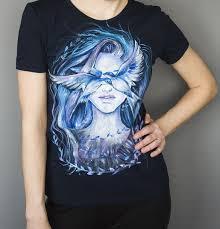 Hand-painted T-shirt, <b>girl</b> and a <b>bird</b>. <b>Футболка</b> с ручной росписью ...