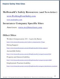 mcdonald s workers compensation pdf besnardinsurance com profitingfromsafety hiring support automobile safety