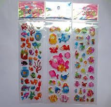 Mix 10Sheets 3D <b>Cartoon Fish Wall Stickers</b> Kids Action Figure toys ...