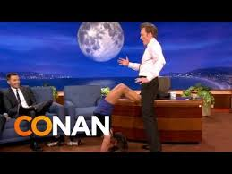 Nina Dobrev Uses Conan As Her Human <b>Yoga Wall</b> - CONAN on TBS