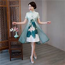 Green Satin Sexy Traditional Chinese Women Dress <b>New Arrival</b> ...