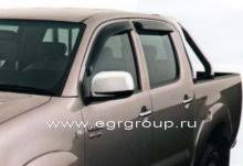 <b>Дефлекторы боковых окон</b> Toyota Hilux 2005-2015 <b>темные</b>, 4 ...