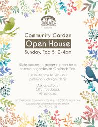 community garden open house oaklands community centre