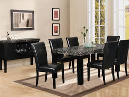 Contemporary Black Dining Room Sets Black Dining Room Chairs At Alemce Home Interior Design