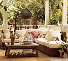 architecture awesome modern outdoor patio design idea with brown sofa with white seat cushion red white architecture awesome kitchen design idea red