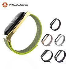 <b>Mijobs Mi Band 3</b> Nylon Wrist Strap Metal Screwless for Xiaomi Mi ...